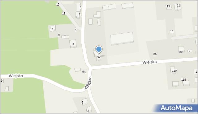 Kębłowo, Wiejska, 92, mapa Kębłowo