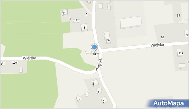 Kębłowo, Wiejska, 94, mapa Kębłowo