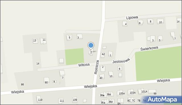 Kębłowo, Witosa Wincentego, 2, mapa Kębłowo