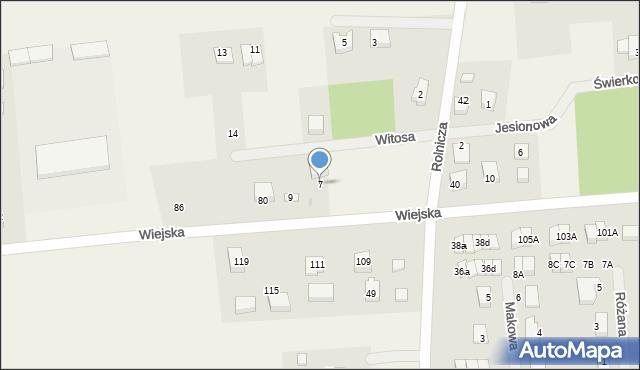 Kębłowo, Witosa Wincentego, 7, mapa Kębłowo