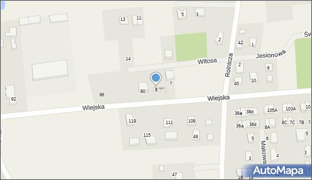 Kębłowo, Witosa Wincentego, 9, mapa Kębłowo