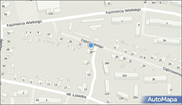 Kętrzyn, Wierzbowa, 19, mapa Kętrzyn