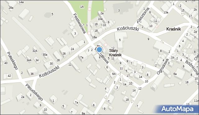 Kraśnik, Wierzbowa, 4, mapa Kraśnik