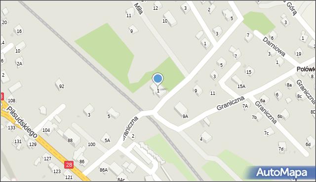 Limanowa, Wierzbowa, 1, mapa Limanowa