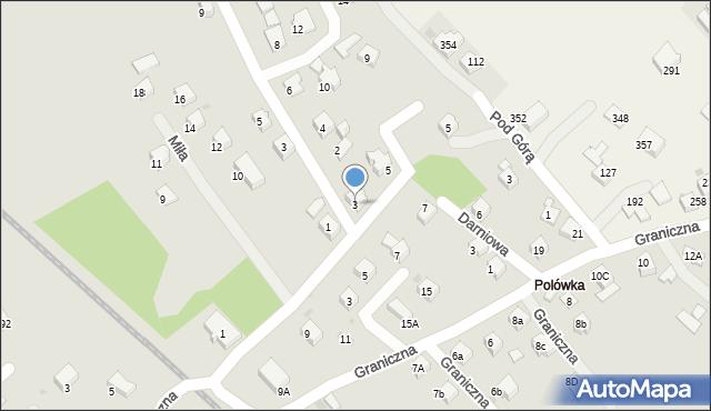 Limanowa, Wierzbowa, 3, mapa Limanowa