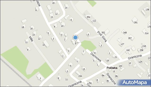 Limanowa, Wierzbowa, 5, mapa Limanowa