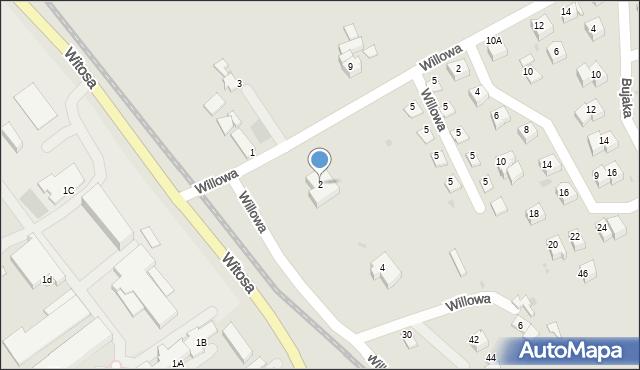 Limanowa, Willowa, 2, mapa Limanowa
