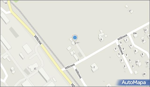 Limanowa, Willowa, 3, mapa Limanowa