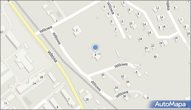 Limanowa, Willowa, 4, mapa Limanowa