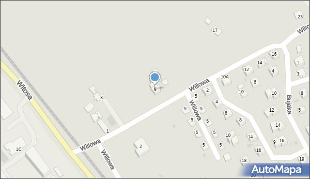Limanowa, Willowa, 9, mapa Limanowa