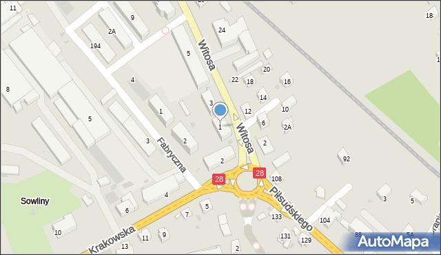 Limanowa, Witosa Wincentego, 1, mapa Limanowa