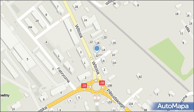 Limanowa, Witosa Wincentego, 12, mapa Limanowa