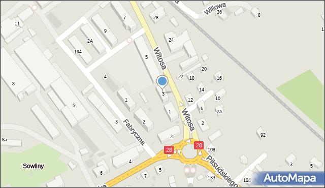 Limanowa, Witosa Wincentego, 3, mapa Limanowa