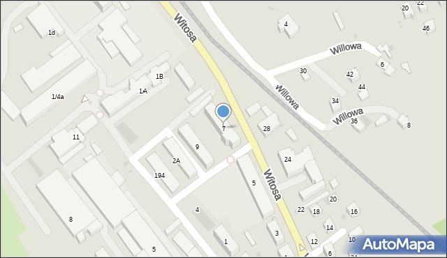 Limanowa, Witosa Wincentego, 7, mapa Limanowa