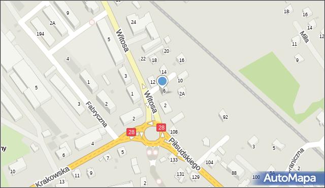 Limanowa, Witosa Wincentego, 8, mapa Limanowa