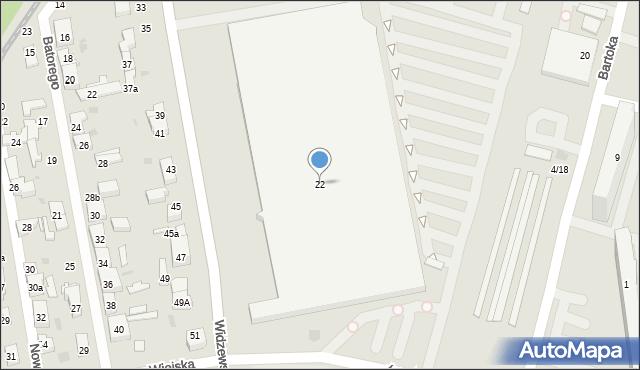 Łódź, Widzewska, 22, mapa Łodzi