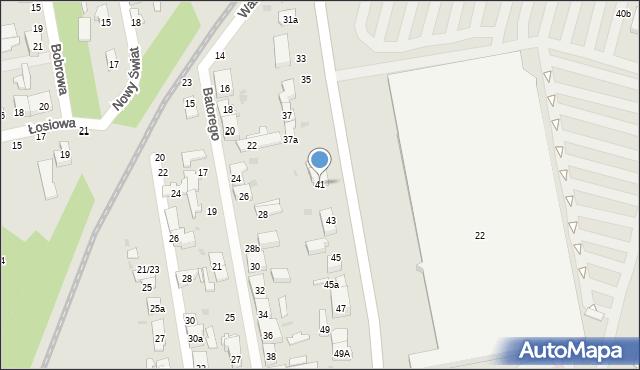 Łódź, Widzewska, 41, mapa Łodzi