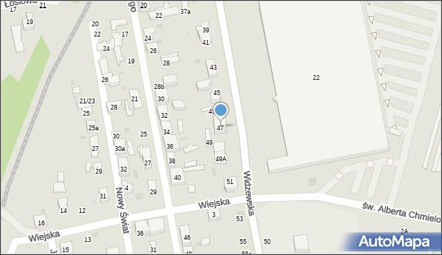 Łódź, Widzewska, 47, mapa Łodzi