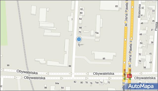 Łódź, Wieniawskiego Henryka, 72, mapa Łodzi