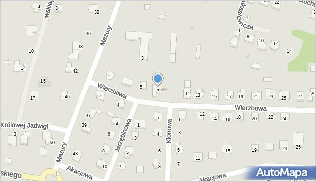 Lubaczów, Wierzbowa, 7, mapa Lubaczów