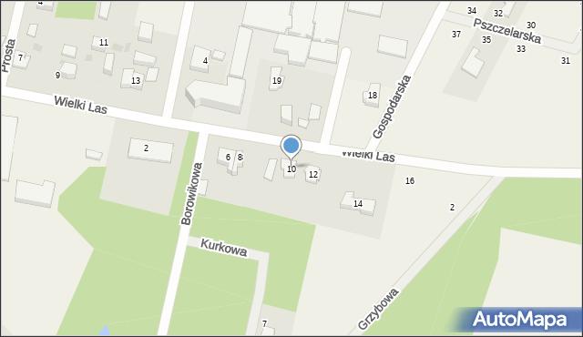 Luzino, Wielki Las, 10, mapa Luzino