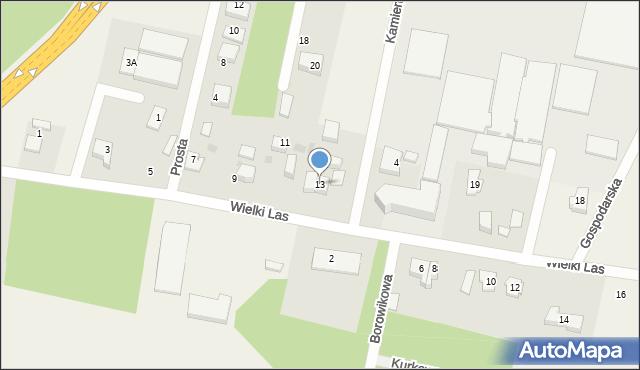 Luzino, Wielki Las, 13, mapa Luzino