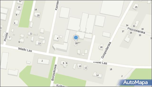 Luzino, Wielki Las, 19, mapa Luzino
