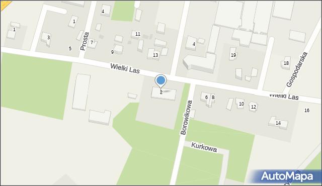 Luzino, Wielki Las, 2, mapa Luzino