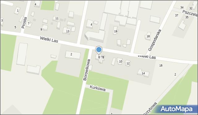 Luzino, Wielki Las, 6, mapa Luzino