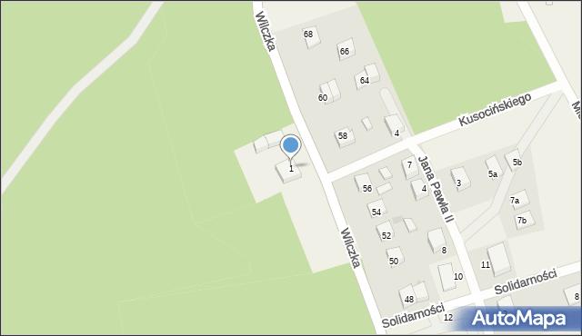 Luzino, Wilczka, 1, mapa Luzino
