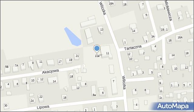 Luzino, Wilczka, 11a, mapa Luzino