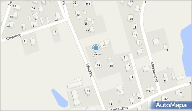 Luzino, Wilczka, 20, mapa Luzino