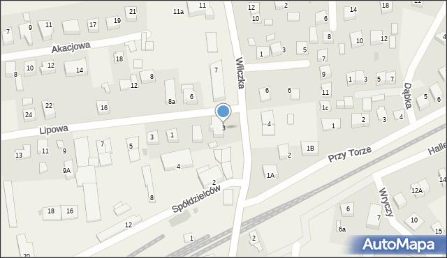 Luzino, Wilczka, 3, mapa Luzino