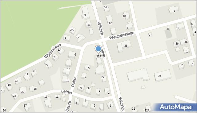 Luzino, Wilczka, 33A, mapa Luzino
