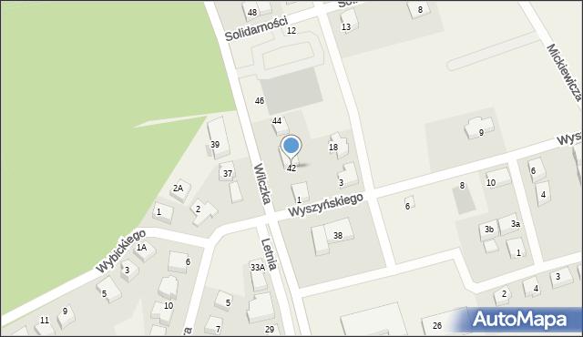 Luzino, Wilczka, 42, mapa Luzino