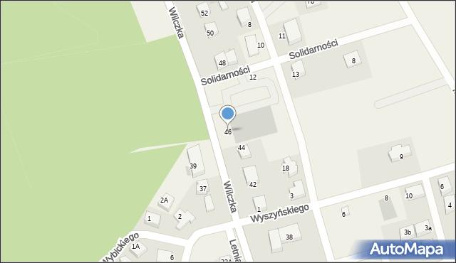 Luzino, Wilczka, 46, mapa Luzino