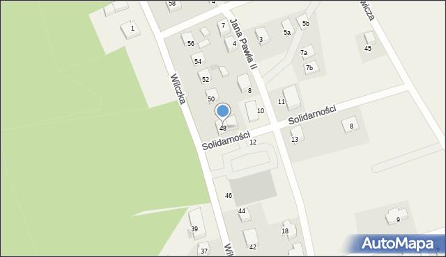 Luzino, Wilczka, 48, mapa Luzino