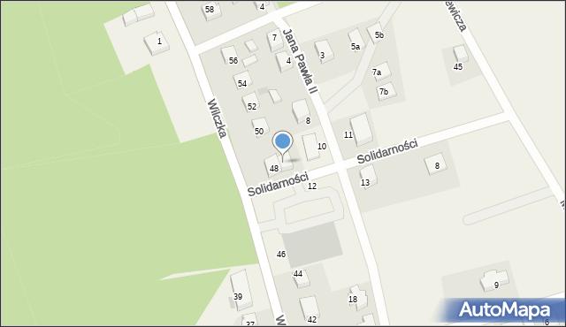 Luzino, Wilczka, 48B, mapa Luzino