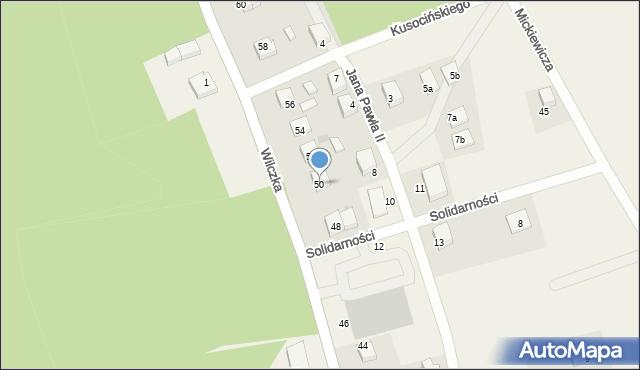 Luzino, Wilczka, 50, mapa Luzino