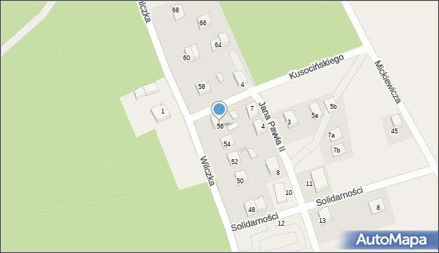 Luzino, Wilczka, 56, mapa Luzino