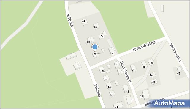 Luzino, Wilczka, 58, mapa Luzino