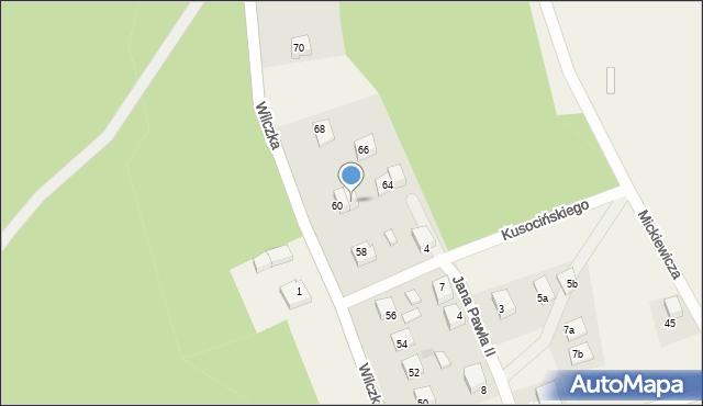 Luzino, Wilczka, 62, mapa Luzino