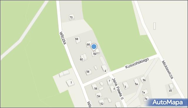 Luzino, Wilczka, 64A, mapa Luzino