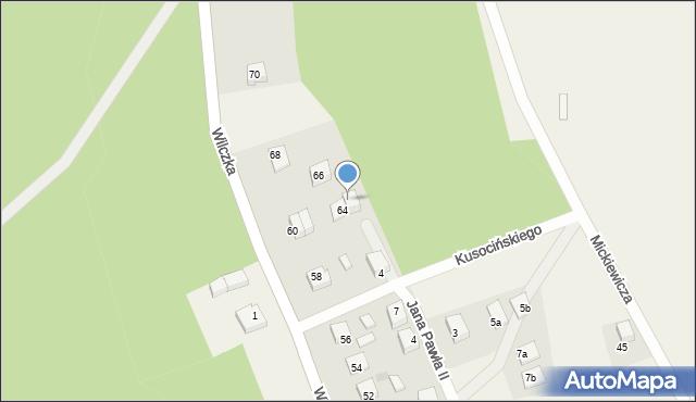 Luzino, Wilczka, 64B, mapa Luzino
