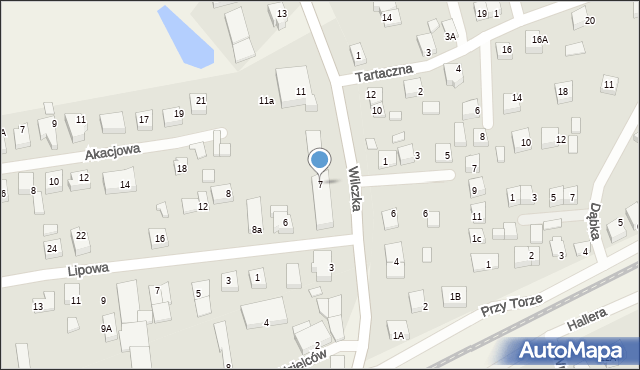 Luzino, Wilczka, 7, mapa Luzino