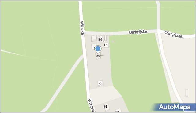 Luzino, Wilczka, 80, mapa Luzino