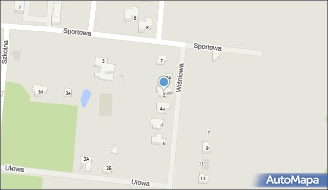 Miękinia, Wiśniowa, 2, mapa Miękinia