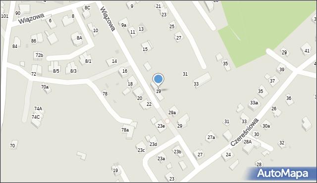 Mikołów, Wiązowa, 19, mapa Mikołów