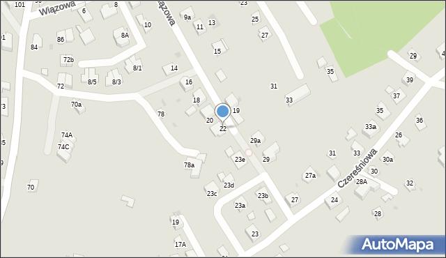 Mikołów, Wiązowa, 22, mapa Mikołów