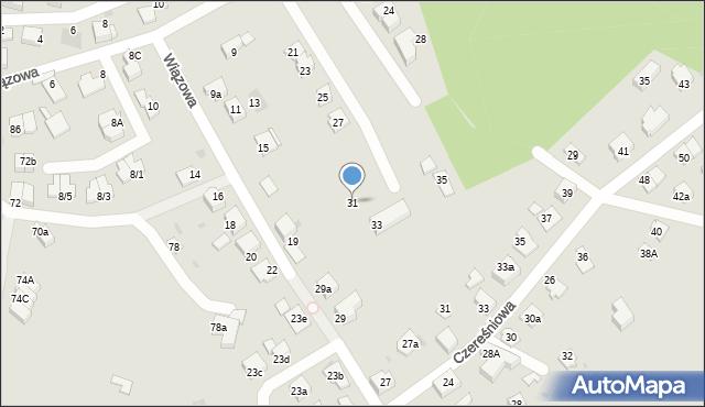 Mikołów, Wiązowa, 31, mapa Mikołów